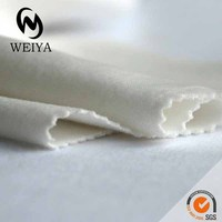 cotton velour white fabric