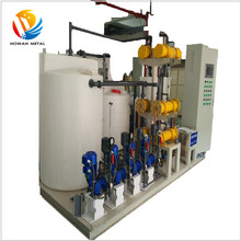 Brine electrolysis system Sodium hypochlorite generation for drinking water disinfection