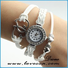 Wrist watch cheap white watch,customizable your logo watch,lady watches weave watch price