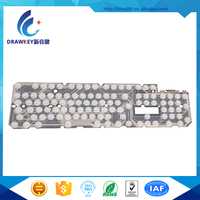 Waterproof silicone rubber computer keyboard flexible circuits