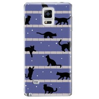 Cute cat Hard plastic case 3D embossed case for samsung galaxy note 4 case