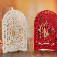 2016 New 3D Laser cut Wedding Invitation card