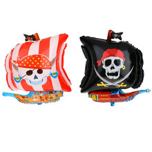Wholesale Inflatable Halloween Corsair Design Pirate ship shaped foil helium balloon for Halloween decorations