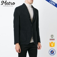 China wholesales fancy black cotton corduroy blazer for man