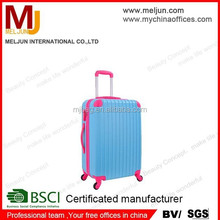 high quality Blue and pink color hard ABS trollery luggage case