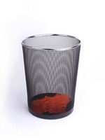 B85002Y factory wholesale office and home usage iron metal mesh round waste bin container price