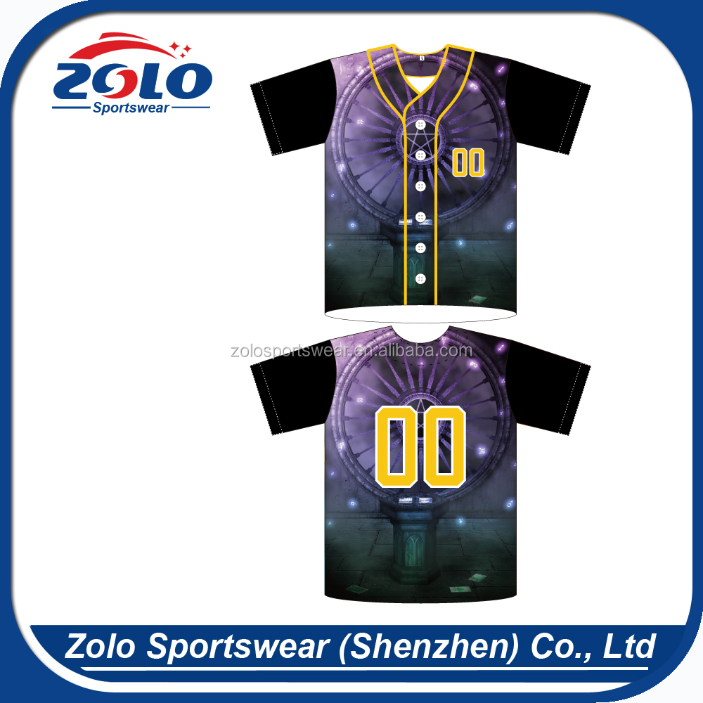 Custom Sublimation Adult 6-Button Throwback Baseball Jerseys with Sewn-On Braid