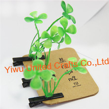 hot sale simulation plant lucky four-leaf clover hairpin