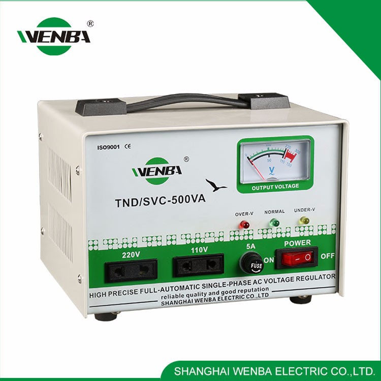 single phase automatic voltage stabilizer circuit
