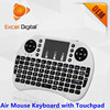 3d android air mouse remote control, K08 mini wireless keyboard 2.4g with touchpad