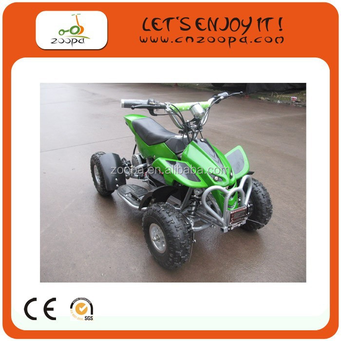electric quad atv china /500W quad bike green with 8 inch tyre