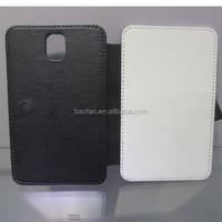 Sublimation Phone Cases Blank Leather Flip cover for samsung note3