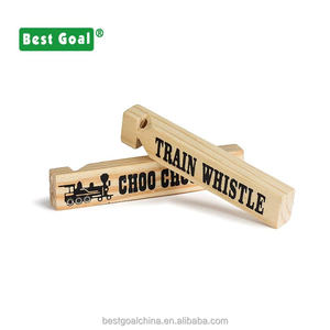 Wooden train whistles party favor noise maker