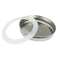 Wide Mouth 86mm Silver Stainless Steel Mason Jar Lids Canning Jars Lids