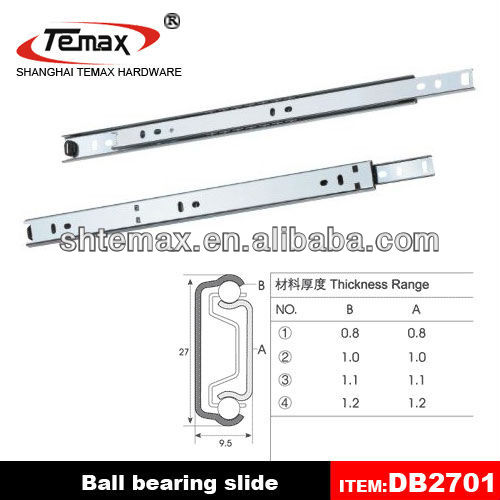 2 ball bearing slides drawer rail track