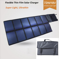 72W triple junction solar cell for camping and travelling
