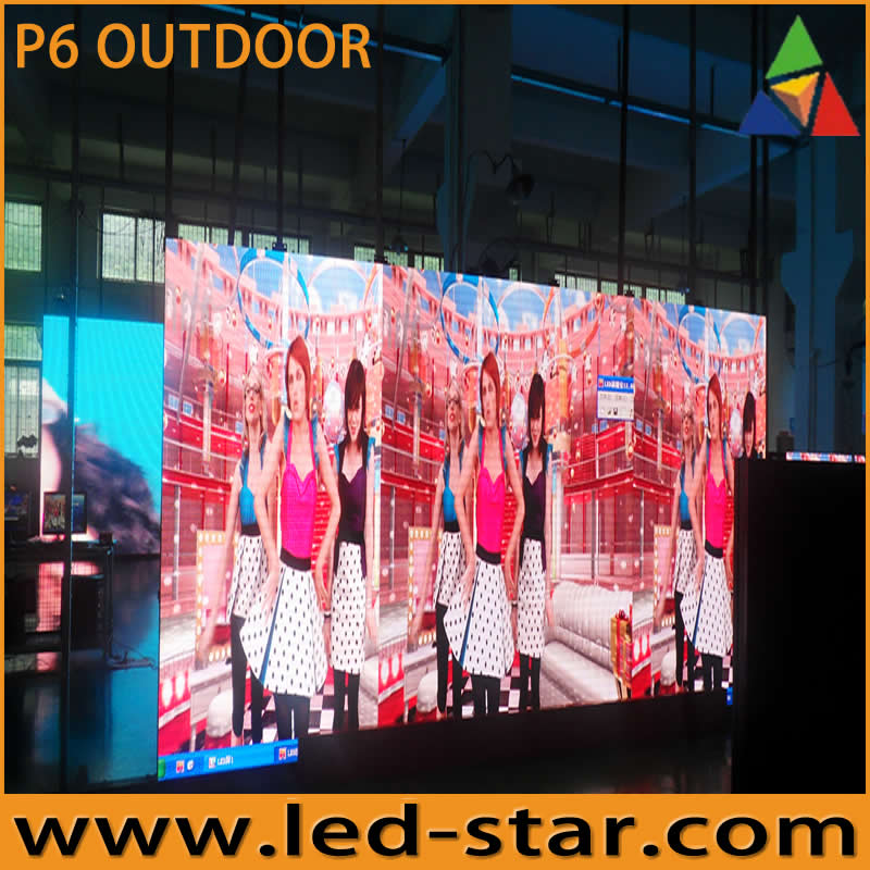 LED STAR electronic sign board P6 high brightness video display