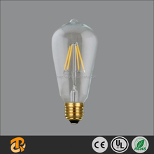 Hot Sale LED ST64 3W E27 Dimmable LED filament Bulb China Supplier
