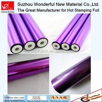 Single color hot stamping foil for textile from suhzou