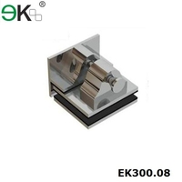 stainless glass panel latch for swimming pool fence
