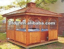 luxury exquisite outdoor wooden hot tub gazebo