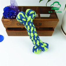 Popular weaving rope chew bone shaped toy for dogs