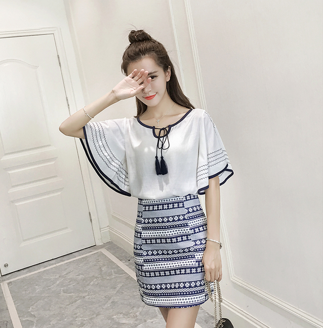 LATEST KOREAN DRESS SUIT FOR WOMEN TOPS AND MINI DRESS