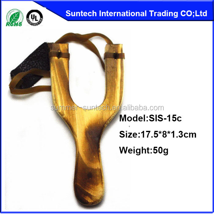 factory direct wholesale wooden hunting slingshot