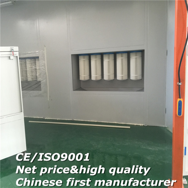 Powder spray coating booth/powder coating cyclone cabin/powder cartridge paint booth