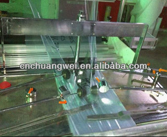 Economic Full Auto Central Seal Bag Manufacturing Machinery For Snacks Packing Bags