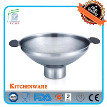 High Quality Stainless Steel Wide-Mouth Funnel with Handle