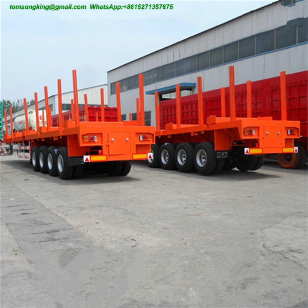 60Ton Heavy Duty Flatbed Container Semi Trailer
