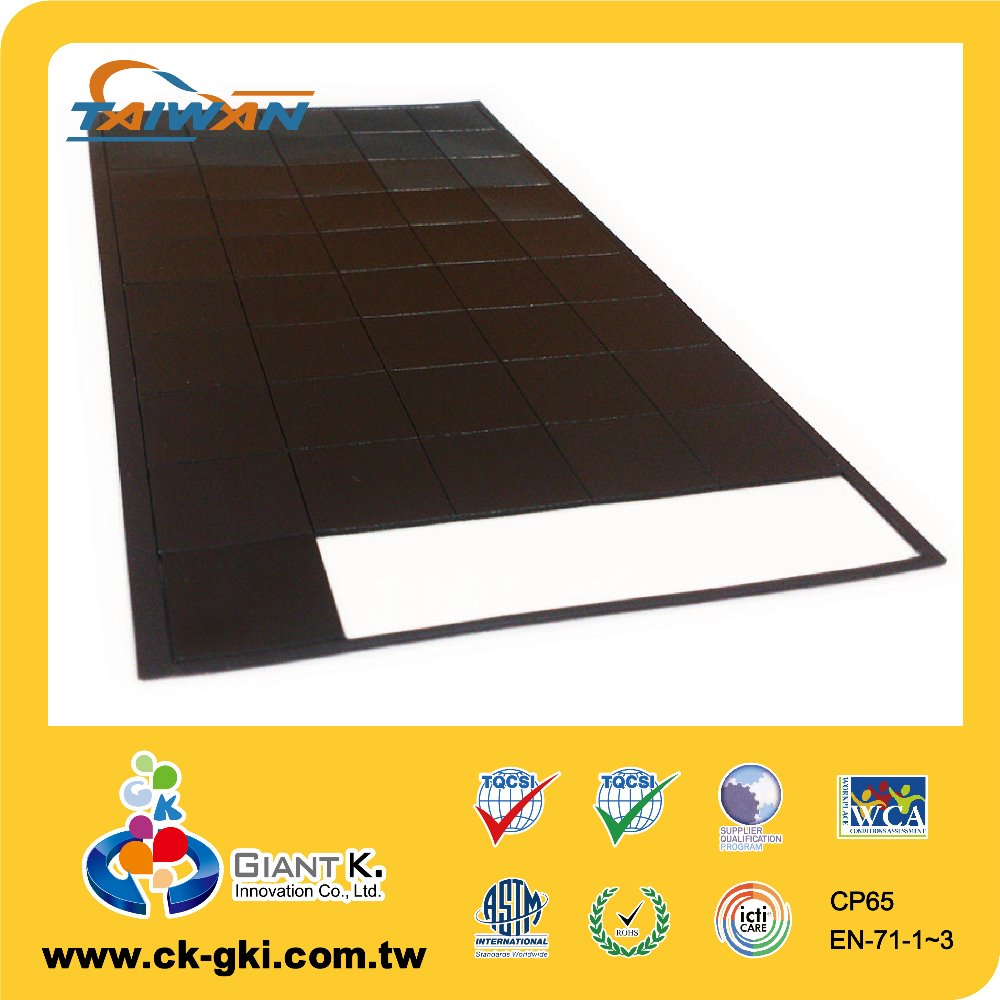 Craft flexible magnetic rubber magnet sheet with o.8mm thickness
