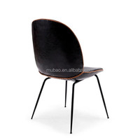 Replica Black Leather Beetle Chair