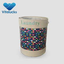 hot sale and new design folding laundry basket canvas with handle