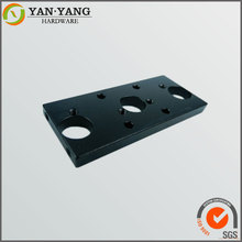 High precision custom cnc aluminum steel parts , black anodizing qualified cnc machined parts