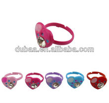 2013 Vners Factory Wholesale New Fashion Heart Rings,Adjustable Plastic Promo Gift Kid Ring