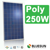 China best pv supplier bluesun top quality good price poly 240w 250W 260w solar panel with CE TUV UL certificate