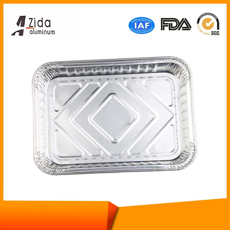 Top level economic silver aluminum foil container for food