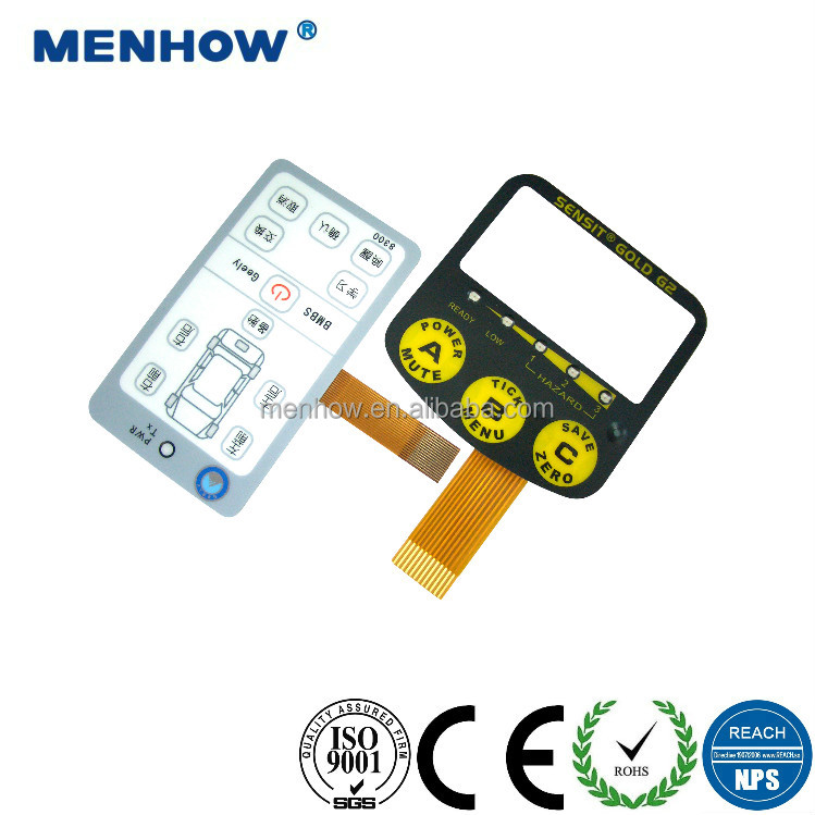 custom 3M membrane plastic touch screen overlay generic membrane switch