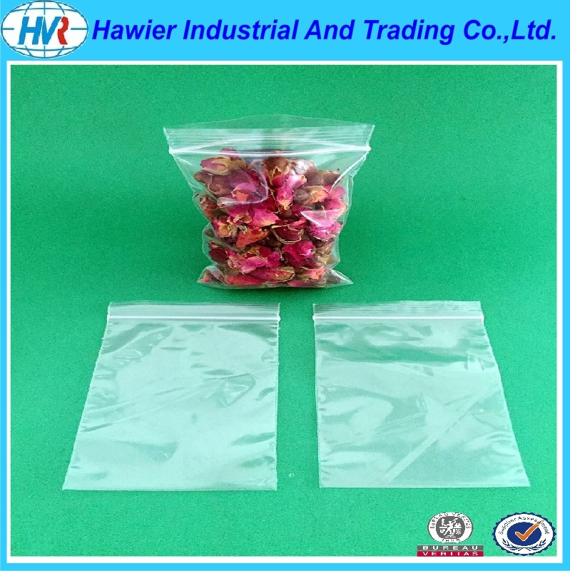 Low density zipper poly food packaging bag from Hawier