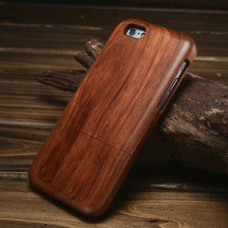 Real wood factory eco friendly detachable wooden cell phone case for iphone 6