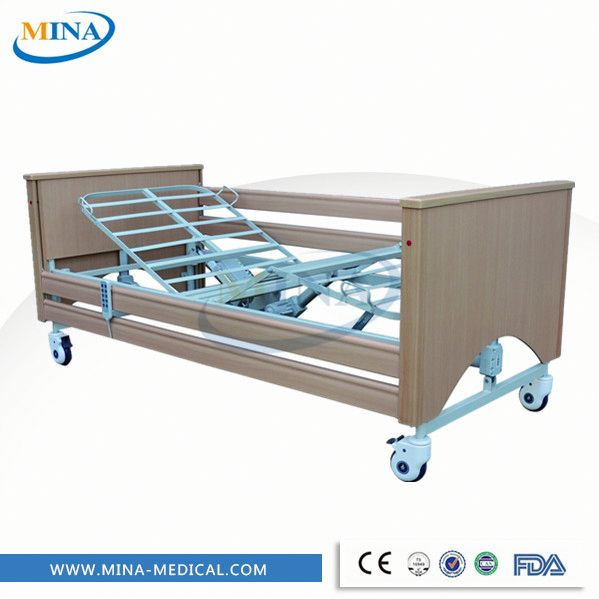 wooden electric home care bed for disabled