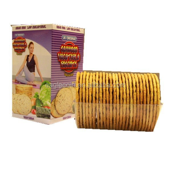 200g Diet Seaweed Vegetable Biscuit Manufacture