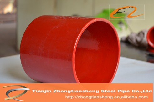 widely used coating plastic / plastic coated pipe / plastic coated steel tube