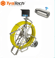 Underground 38mm waterproof fiber optic sewer surveillance camera for sewage pipe inspection