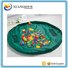 Children Play Mat Toy Storage Bag Kid's Activity Mat drawstring bag for the beach