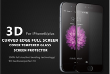 Wholesale 3D Anti-broken Anti-fingerprint Full Cover Tempered glass Screen Protector for Iphone 6/6plus