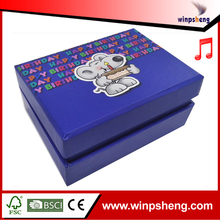 Big promotion fashion design battery operated music box