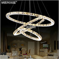 MEEROSEE Diamond Crystal Ring Light LED Circle Pendant Light MD8825-864